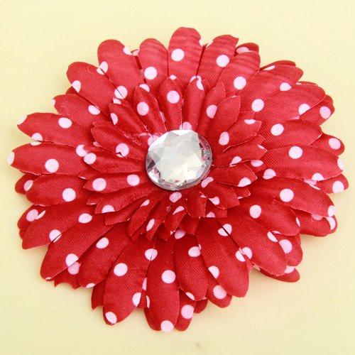 Strass Daisy Pince à Cheveux De Fleur Pour Femme Bébé Enfant En Bas âge Rouge Points
