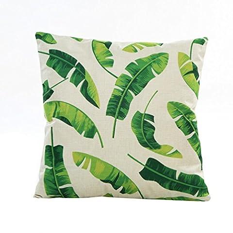 Pillowcases, SHOBDW 1PC Flowers Grass Pattern Pillow Sofa Waist Throw Cushion Cover Home Decor (43 x 43cm,