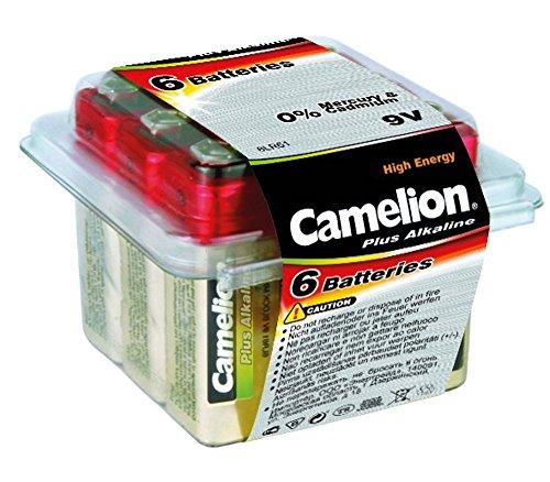 Camelion 11100622 Plus Alkaline Batterien Box 6LF22/9Volt Block, 6er-Pack Alkaline-batterie-box