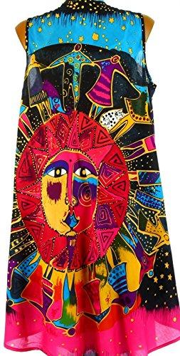 Charleselie94® Damen One-Shoulder Kleid Schwarz
