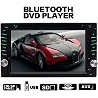 EinCar Steering Wheel Control 2 din HD In dash Car stereo DVD CD MP3 Player Radio Video Audio Bluetooth 6.2 Inch Touch Screen SD,USB, AUX ,Subwoofer ,Radio,FM AM RDS support with Remote Control