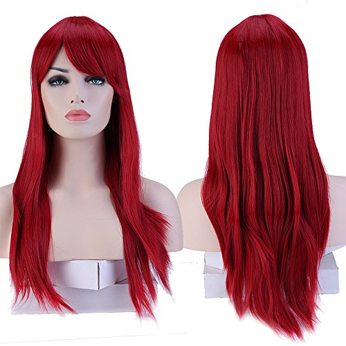 TESS Perücke Rot Frauen Lang Glatt wig für -