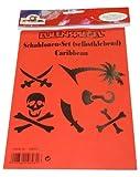 Eulenspiegel 108031 - Tattoos, selbstklebend, Caribbean/Piraten (XL)