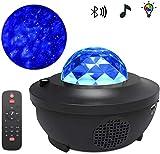LYRAL Angeführt Musik Bluetooth Sprachsteuerung Sternprojektor Mit 10 Arten Von Lichtmodus, USB Linienlaser Laserlicht Stern Wasser Muster