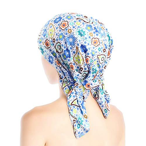 ZYCC Frauen Bandana Schal Turban Hut, Beanie Turban Kopfbedeckung Chemo Hat Cancer Hat Skull Cap (Farbe 4) (Muslim-skull-cap)