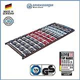 Ravensberger Matratzen Meditec Lattenrost | 5-Zonen-TPEE-Teller-Systemrahmen | Schichtholzrahmen| Starr| MADE IN GERMANY - 10 JAHRE GARANTIE | TÜV/GS 90 x 200 cm