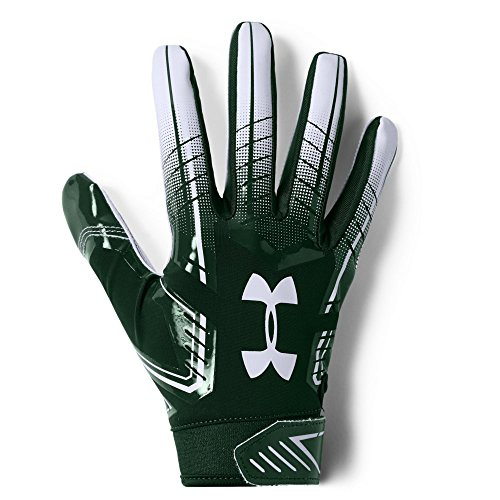 Under Armour F6 Design 2018 American Football Receiver Handschuhe - grün/weiß Gr. XL