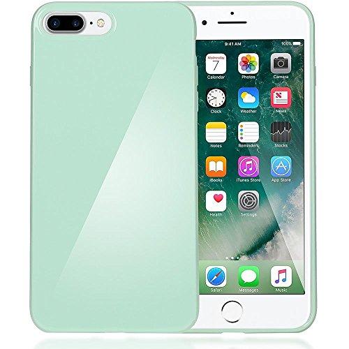 delightable24 Protezione Cover Case in Silicone TPU Jelly per Smartphone APPLE IPHONE 7 PLUS - Verde Chiaro