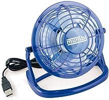 mumbi USB Ventilator - Mini Fan für den Schreibtisch mit An / Aus-Schalter, blau