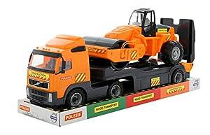 Polesie Polesie58416 Volvo Powertruck - Remolque de Juguete para camión con Rodillo de Carretera en Bandeja