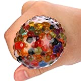 Bluestercool Spongy Rainbow Squishy Toy Stress Relief Squeezable Stress Ball For Fun (Multicolor)