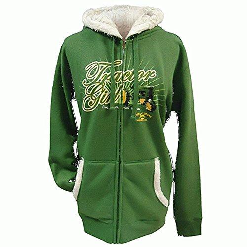 John Deere Hoodie Sweatshirt (John Deere–Sweatshirt–Damen, grün XL)