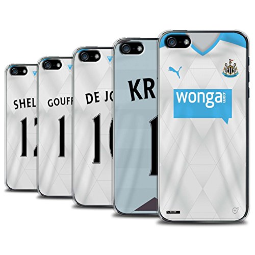 Offiziell Newcastle United FC Hülle / Case für Apple iPhone SE / Pack 29pcs Muster / NUFC Trikot Away 15/16 Kollektion Pack 29pcs