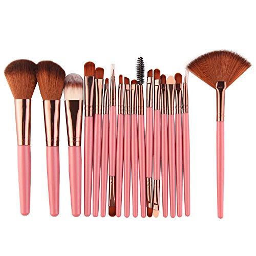 Siswong Make-up-Sets, Neue 18-Tlg Make-Up Pinsel Set Werkzeuge Make-Up Kulturbeutel Wolle Make-Up Pinsel-Sets