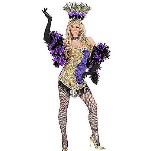 ladies-gold-purple-vegas-showgirl-costume-medium-uk-10-12-for-70s-disco-fancy-dress
