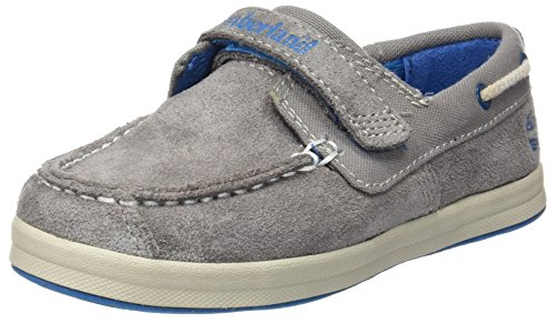 Timberland Unisex Baby Dover Bay H&L Boatsteeple Lauflernschuhe, Grau (Steeple Grey with Mykonos Blue), 27 EU