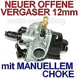 Unbranded VERGASER 12mm MANUELLER HEBEL für Peugeot Vivacity ab Bj.08 Jet Force C-TECH 50