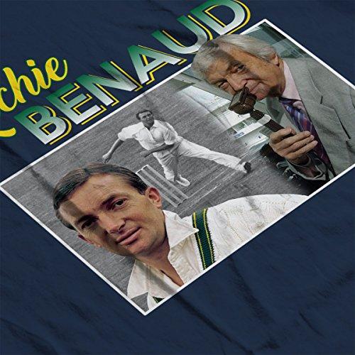 Richard Benaud Cricket Commentator Montage Men's T-Shirt Navy Blue