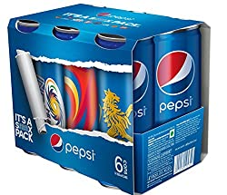 Pepsi IPL Cans, 250ml x 6 (RCB, MI, CSK, SH)