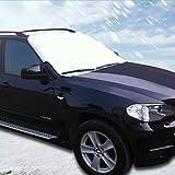 Funda almondcy Escarcha para parabrisas, parabrisas de coche cubierta de nieve para invierno para retirar la nieve, coche parabrisas Parasol y protector contra congelación de nieve, para SUV, camión y coche parabrisas, (160* 120cm/63* 46.45in)