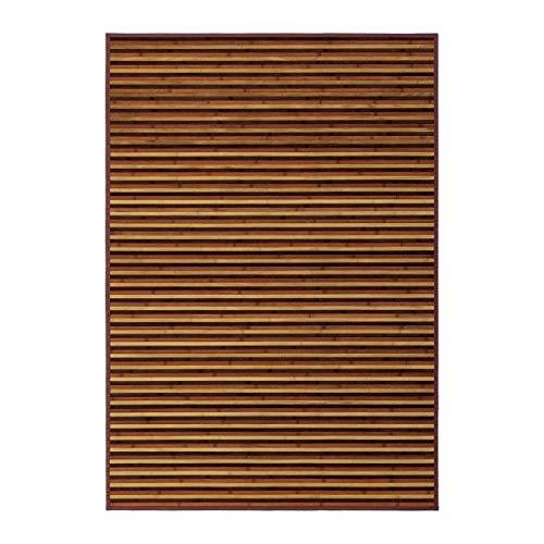 LOLAhome Alfombra de salón árabe marrón de bambú para decoración de 140 x 200 cm Arabia, 140x200