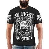 Männer und Herren Tshirt La Familia No Fight No Glory Größe S - 8XL