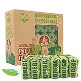 CYCLUCK 450 Sacchetti per Escrementi del Cane ecologici e biodegradabili Fatto da amido di Mais Profumati Prova di perdite Extra Large Spessi e Forti (Verde)