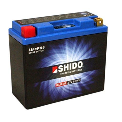Batterie Shido Lithium LT12B-BS / YT12B-BS, 12V/10AH (Maße: 150x69x130) für Ducati 1200 Diavel AMG Baujahr 2012 - Amg-batterie