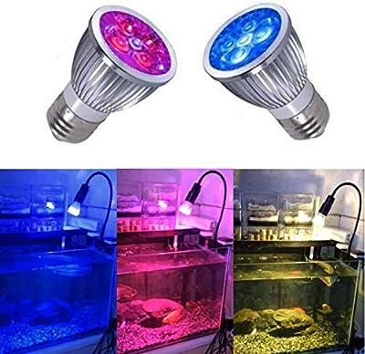 Ampoule de la Lampe E27 de l'éclairage d'aquarium de récif pour éclairage de l'aquarium de LED pour l'usine d'algues de Poissons de Corail de récif Marin