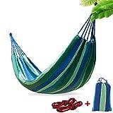 Epangda Hamacas Colgantes| Transpirable Algodón/Amplia 265x150cm/ 300KG Capacidad de Carga/2 Cuerdas de Nylon Hamacas Jardín Hamaca en Rincón de Salón