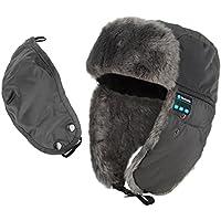 Coco Fashion Unisex adulto caldo comodo Berretto con Wireless Bluetooth cuffie grigio Grey taglia unica