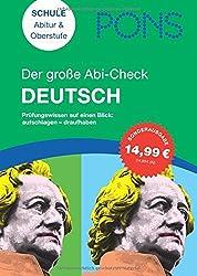 PONS Der große Abi-Check Deutsch : Prüfungswissen auf einen Blick