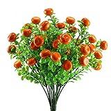 Nahuaa Künstliche Pflanze Deko 4 Stück Gefälschte Orange Sträucher Faux Obst Büschen Bündel Tisch Arrangements Home Küche Büro überdacht Draußen Sommer Dekorationen