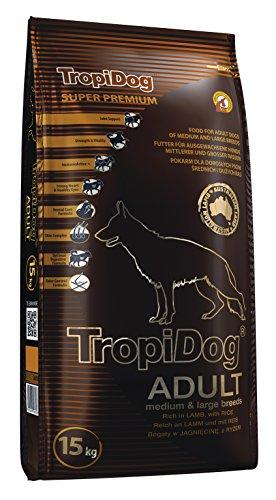 Tropical Super Premium Hundefutter mit Lamm und Reis, 1er Pack (1 x 15 kg)