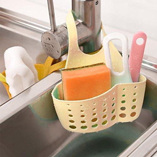 Égouttoir, Hunpta Portable Maison de cuisine à suspendre Sac de vidange Panier de bain de stockage outils évier support kaki