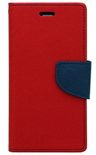 SCHOFIC Premium Fancy Wallet Diary with Card Slots [POCKETS] , Stand View and Magnetic Strap [LOCKING] Faux Leather Flip Stand Back Case Cover for Micromax A114 Canvas 2.2 - Hot Red  available at amazon for Rs.225
