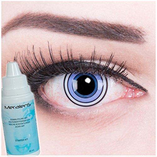 Farbige Anime Crazy Fun Kontaktlinsen Rinnegan Samsara Eye perfekt zu Fasching, Karneval und Halloween mit gratis Linsenbehälter + 60ml Pflegemittel Topqualität
