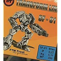 Forellenschnur Monofile Schnur zum Forellenangeln Monoschnur Monofilschnur TFT Transform Line SF-01 200m Fluo gr/ün Angelschnur