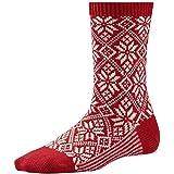 Smartwool Damen Socken Women'traditionelle Schneeflocke, karminrot rot purpurrot L