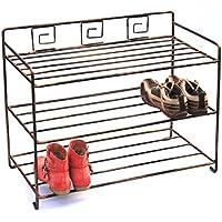 Scaffale per scarpe Art. 411 Scarpiera 72cm Armadio-scarpe Scaffale metallo ferro-battuto