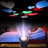 Excelvan Multi Farbige Herz LED Projektor Lampe Stimmungslicht Wasserdicht Dekoratives