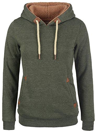DESIRES Vicky Pile Damen Winter Pullover Kapuzenpullover Hoodie Sweatshirt mit Kapuze und Teddy-Futter, Größe:S, Farbe:Climb Ivy (8785)