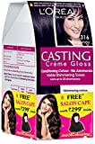#8: L'Oreal Paris Casting Creme Gloss Hair Color, 3.16 Plum, 159.5g with Free Salon Cape (Worth Rupees 299)