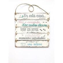Cartel vintage de madera personalizable 30x32cm- Transferencia de fotos a madera - Cartel con listones