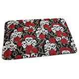 """Voxpkrs Baby Changing Pad Liners Cool Skull Head And Roses Print Tappetino Morbido per Pannolini per Pannolini per Ragazze 25.5""""X 31.5"""""""