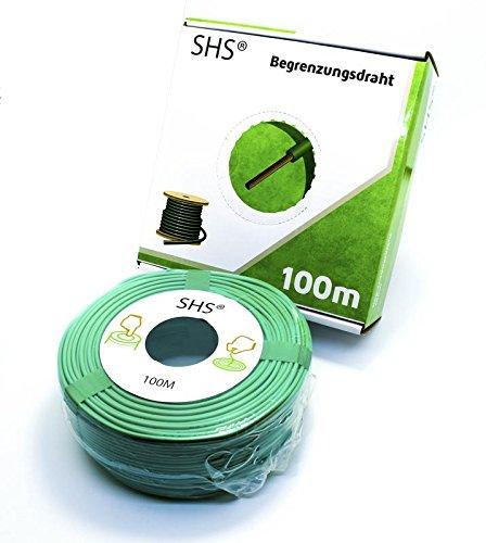 100m SHS Begrenzungskabel für Mähroboter Zubehör SET Begrenzungsdraht für Suchkabel/GARDENA / BOSCH/HUSQVARNA / WORX/HONDA / ROBOMOW/iMow