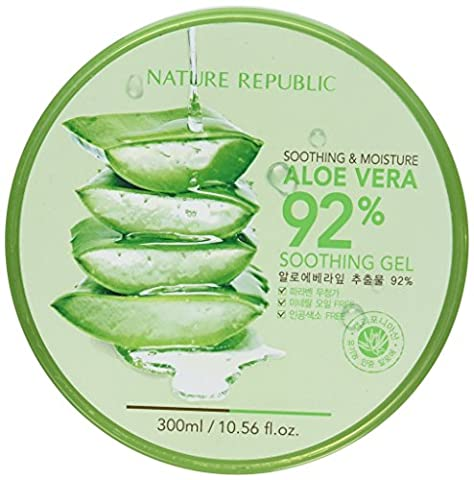 Nature Republic - 92% Aloe Vera Soothing Gel - Soothing & Moisture - Facial Care - aloe vera Gel for men and woman