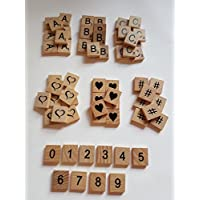 Letras de madera para manualidades, elige tus propias 100 letras