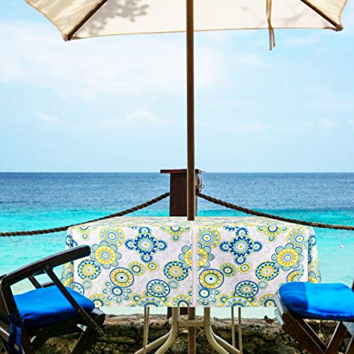 Tischdecken, Polyester-Mischgewebe, Circle Zip, 60Wx60L -