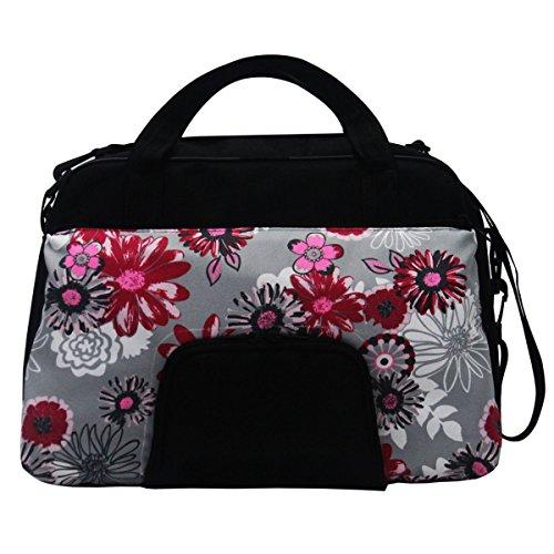 C-BAGS QUEEN MEADOW Gepäckträger Fahrradtasche Tasche verschiedene Muster black-pink